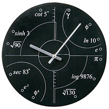 Irrational Numbers Wall Clock