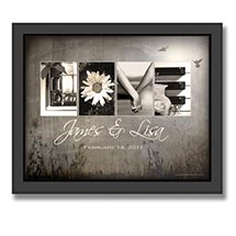 Personalized Love Letters Framed Print