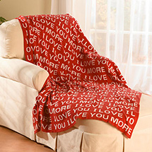 "I Love You More Cotton Throw Blanket 50"" by 60"""