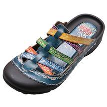 Slip On Bump Toe Sandals - Blue