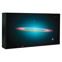 Hubble Image Canvas Print: Sombrero Galaxy