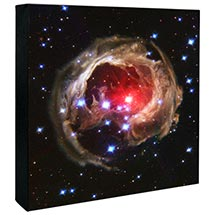 Hubble Image Canvas Print: Light Echo Dust Around Super Giant
