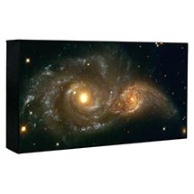 Hubble Image Canvas Print: Interacting Spiral Galaxies