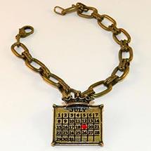 Personalized Calendar Crown Charm Bracelet
