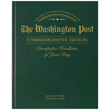 Personalized Washington Post Birthday Edition