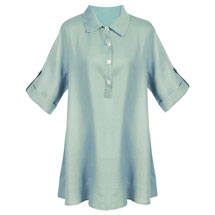 Polo Collar Linen Tunic