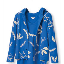 Leaf Print Shirt Jacket
