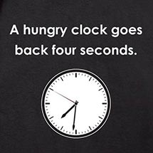 A Hungry Clock Goes Back Four Seconds Shirt
