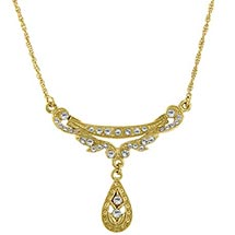 Downton Abbey Crystal Drop Necklace