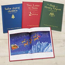 Personalized Children's Books - Set Of All Three (Traditional Nursery Rhymes, Twelve Days Of Christmas and Your Letter T