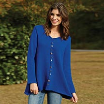 Pullover V-Neck Tunic Sweater