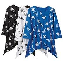 Irises Sharkbite Tunic