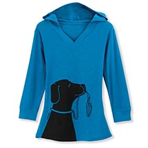 Marushka Dog Print Tunic Top