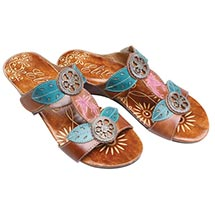 Belle Hand-Painted Sandals
