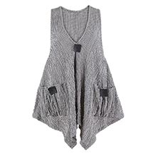 Checked Seersucker Vest