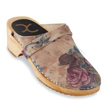 Floral Clogs - Rosette (purple)