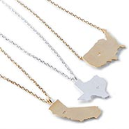 Gold and Silver Plated State Necklace