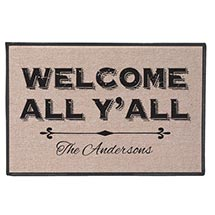 Personalized Welcome All Y'All Doormat