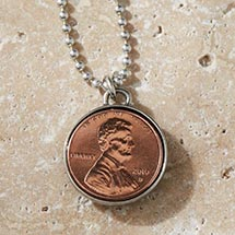 Personalized Lucky Penny Necklace