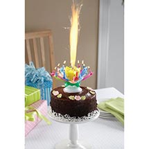 Musical Spinning Birthday Candle