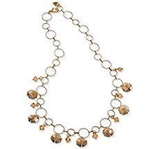 Smoky Crystals Necklace