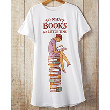 So Many Books So Little Time Sleep Shirt with Scoop Neck for Women