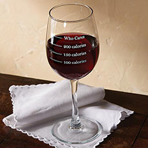 Calorie Measuring Wine Glass