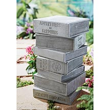 "Stacked Books Garden Stool - 18"" High"