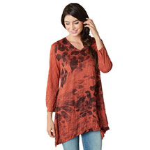 Painted Crinkle Tunic Top