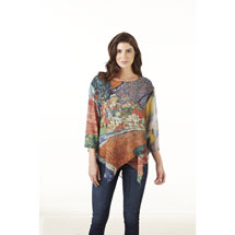 Van Gogh Tunic Top for Women with 3/4 Sleeves