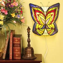 Art Glass Butterfly Wireless Wall Sconce