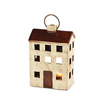 Ceramic House Lanterns - Cream