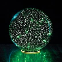 Lighted Green Crystal Ball