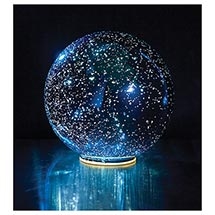 Lighted Blue Crystal Ball