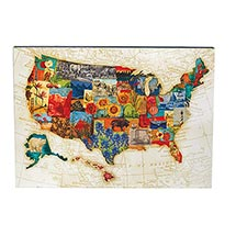 America the Beautiful Wood Wall Art