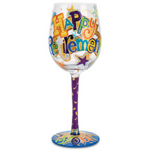 Happy Retirement Wine Glass