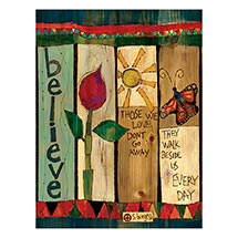 "Believe Art Pole 20"" Yard Post"