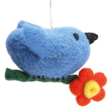 Felted Wool Bird Ornaments