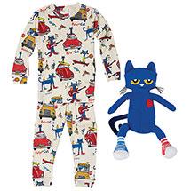 Pete the Cat Gift Set: Pajamas and Plush