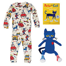 Pete the Cat Gift Set: Pajamas, Book and Plush