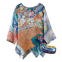 Van Gogh Set: Gallery Tunic with Starry Night Bangle Cuff