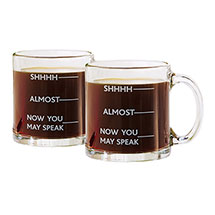 Now You May Speak Glass Coffee Mug - Set of 2