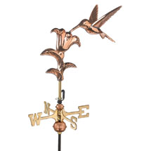 Copper Hummingbird Weathervane