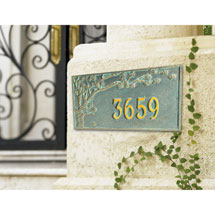 Personalized Cherry Blossoms Address Sign - Estate Wall