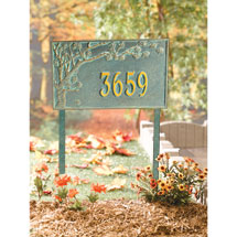 Personalized Cherry Blossoms Address Sign - Estate Lawn