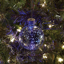 Mercury Glass Ornament with Color-Changing LED - Large