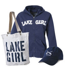 Lake Girl Hoodie with Matching Hat and Tote