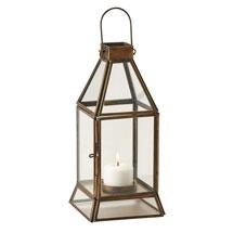 Brass and Glass Tea Light Lantern