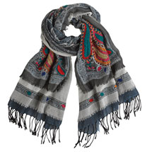 Wool Embroidered Scarf