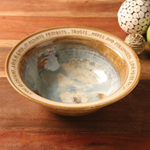 Love Is Patient Artist-Made Wedding Bowl